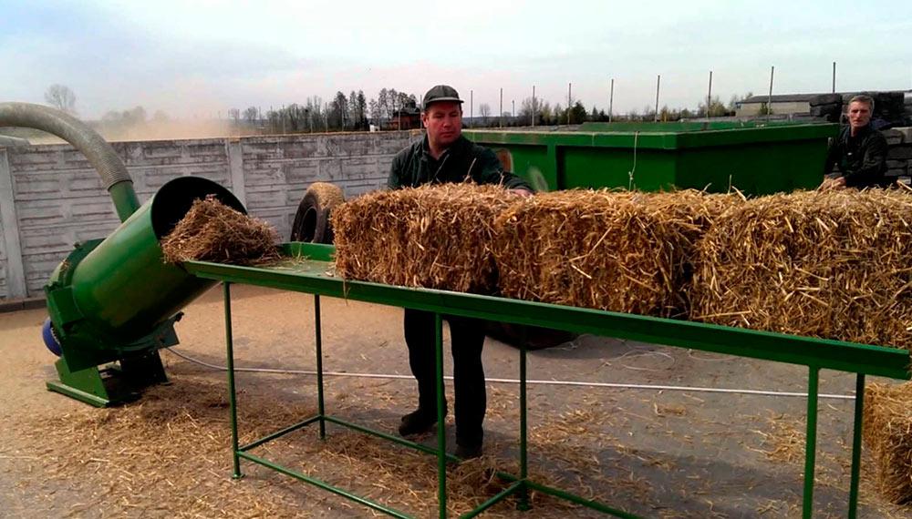 Изготовление измельчителей сена и соломы из подручных средств