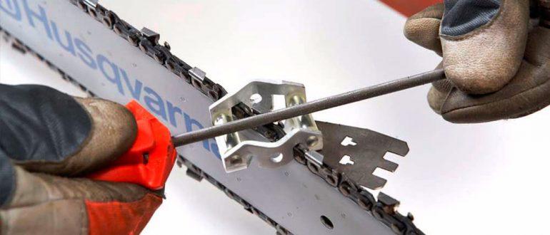 правильно точить цепи от бензопил
